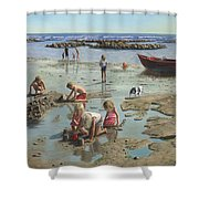 Sandcastles Shower Curtain