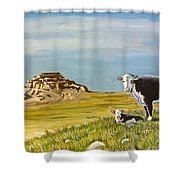 Sandhills Spring Shower Curtain