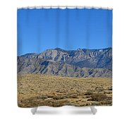 Sandia Mountains Shower Curtain