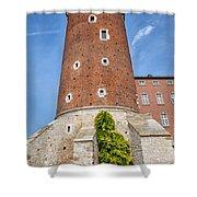 Sandomierska Tower Of Wawel Castle In Krakow Shower Curtain