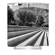 Sandpiper Stairs Bw Palm Desert Shower Curtain