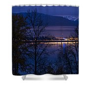 131112a-110 Sandpoint After Dusk Shower Curtain