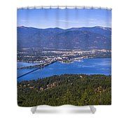 Sandpoint From Trail 3  -  110923-021 Shower Curtain