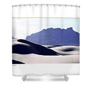 White Sands Natural Anatomy  Shower Curtain