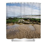 Sands Of Whitley Bay Shower Curtain