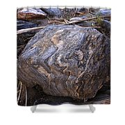 Sandstone Boulder Shower Curtain