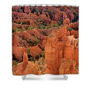 Sandstone Hoodoos At Sunrise Bryce Canyon National Park Utah Shower Curtain