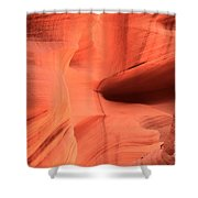 Sandstone  Ledges And Swirls Shower Curtain