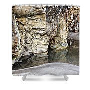 Sandstone Reflections Shower Curtain by Douglas Barnard