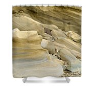 Sandstone Sediment Smoothed And Rounded By Water Shower Curtain