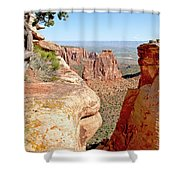 Sandstone Smile Shower Curtain