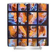Sandstone Sunsongs Blues Photo Assemblage Shower Curtain