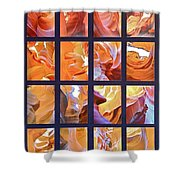 Sandstone Sunsongs Golden Oldies Photo Assemblage Shower Curtain