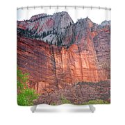 Sandstone Wall In Zion Shower Curtain by Robert Bales