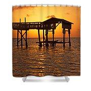 Sandy Bay Sunset Shower Curtain