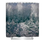 Sandy Beach Backwash Shower Curtain