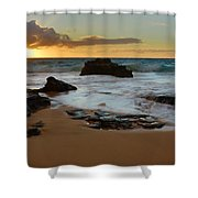 Sandy Beach Sunrise 7 - Oahu Hawaii Shower Curtain