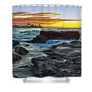 Sandy Beach Sunrise Shower Curtain