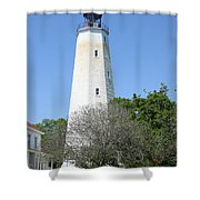 Sandy Hook Lighthouse II Shower Curtain