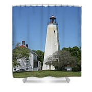 Sandy Hook Lighthouse IIi - N  J Shower Curtain