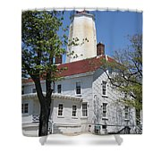 Sandy Hook Lighthouse Iv Shower Curtain