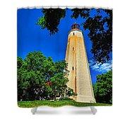 The Sandy Hook Lighthouse Shower Curtain
