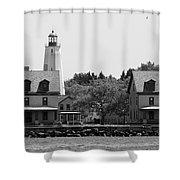 Sandy Hook New Jersey Lighthouse Shower Curtain