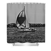 Sandy Hook Sailing II Shower Curtain