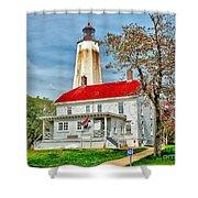 Sandy Hook Spring Shower Curtain