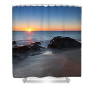 Sandy Hook Sunburst Shower Curtain