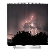 Sandy Pines Storm Shower Curtain