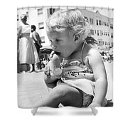 Sandy Toes For Lunch Shower Curtain