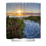 Sandy Trail Shower Curtain
