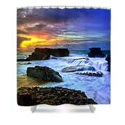 Sandys Early Morning Shower Curtain