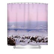 Sangre De Cristo Range With Clouds Shower Curtain