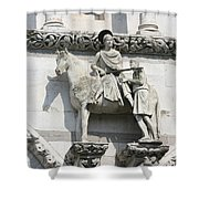 Sankt Martin Statue Lucca Shower Curtain