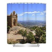 Sant Joan Chapel Spain Shower Curtain