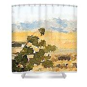 Santa Ana View Shower Curtain