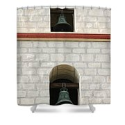 Santa Barbara Mission Bells Shower Curtain