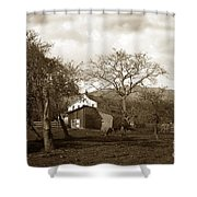 Santa Barbara Mission California Circa 1890 Shower Curtain