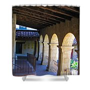 Santa Barbara Mission Cloister Shower Curtain