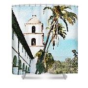 Santa Barbara Palms Shower Curtain