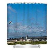 Santa Barbara Takeoff Shower Curtain