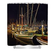 Santa Barbata Harbor Color Shower Curtain