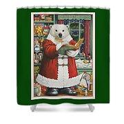 Santa Bear Shower Curtain