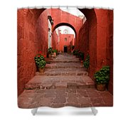 Santa Catalina Monastery In Arequipa Peru Shower Curtain