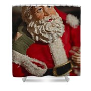 Santa Claus - Antique Ornament - 02 Shower Curtain