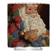 Santa Claus - Antique Ornament - 03 Shower Curtain