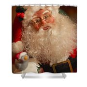 Santa Claus - Antique Ornament - 11 Shower Curtain by Jill Reger