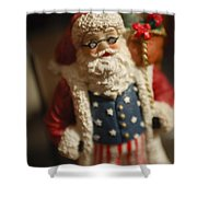 Santa Claus - Antique Ornament - 15 Shower Curtain